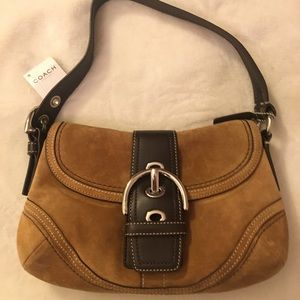 Coach Brown Suede/Leather Hobo bag